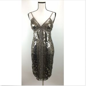 Alberto Makali Dress 10 Embellished Sparkly Open